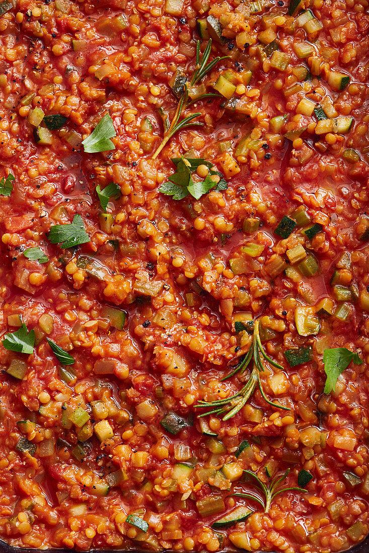 Oriental mountain lentil curry (full-frame)