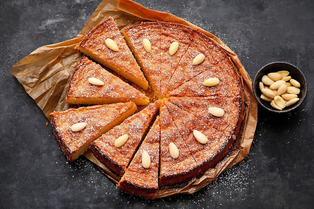 Quick almond cake