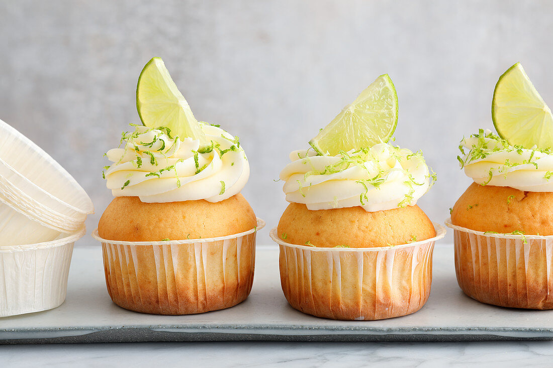 Lime and buttermilk muffins