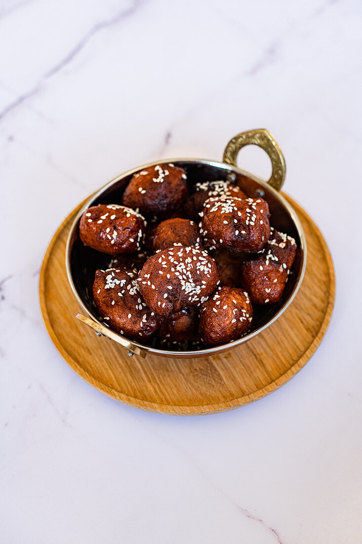 Luqaimat are sweet dumplings served mostly in the holy month of ramadan