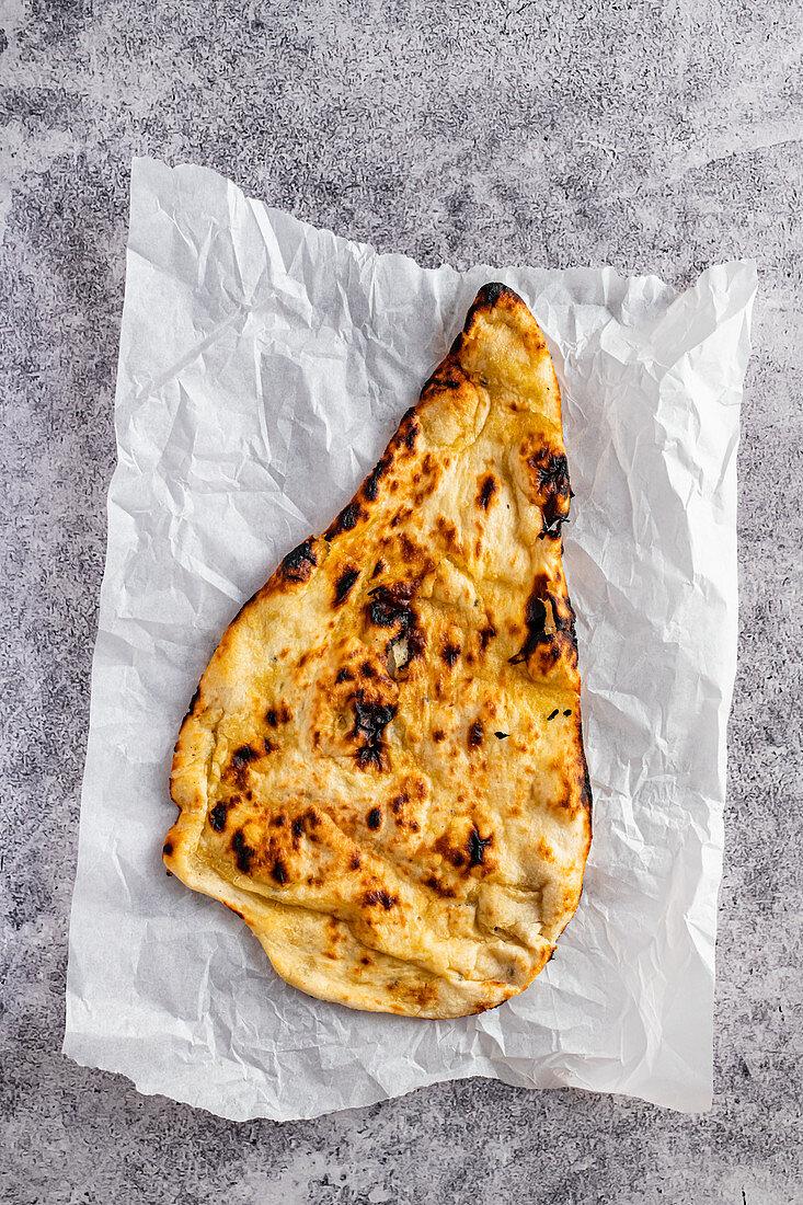 Butter Naan baked in Tandoori Oven