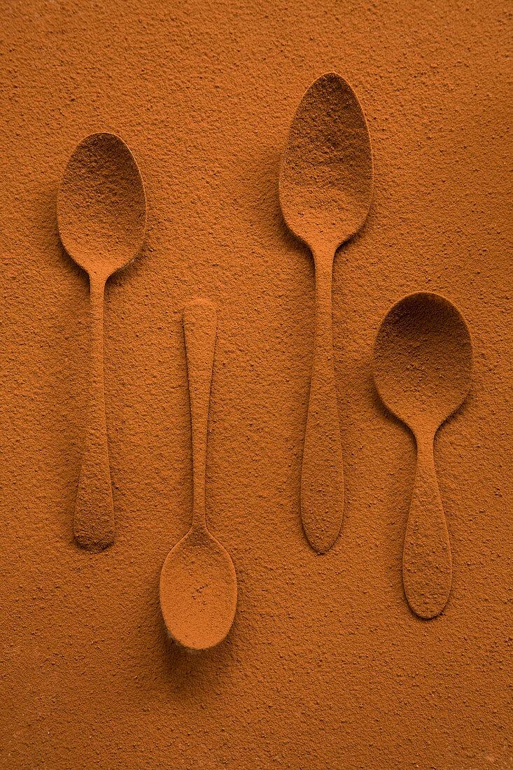 Cocoa powder spoons