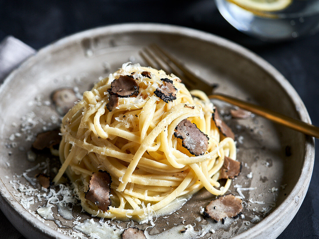 Truffle pasta with parmesan