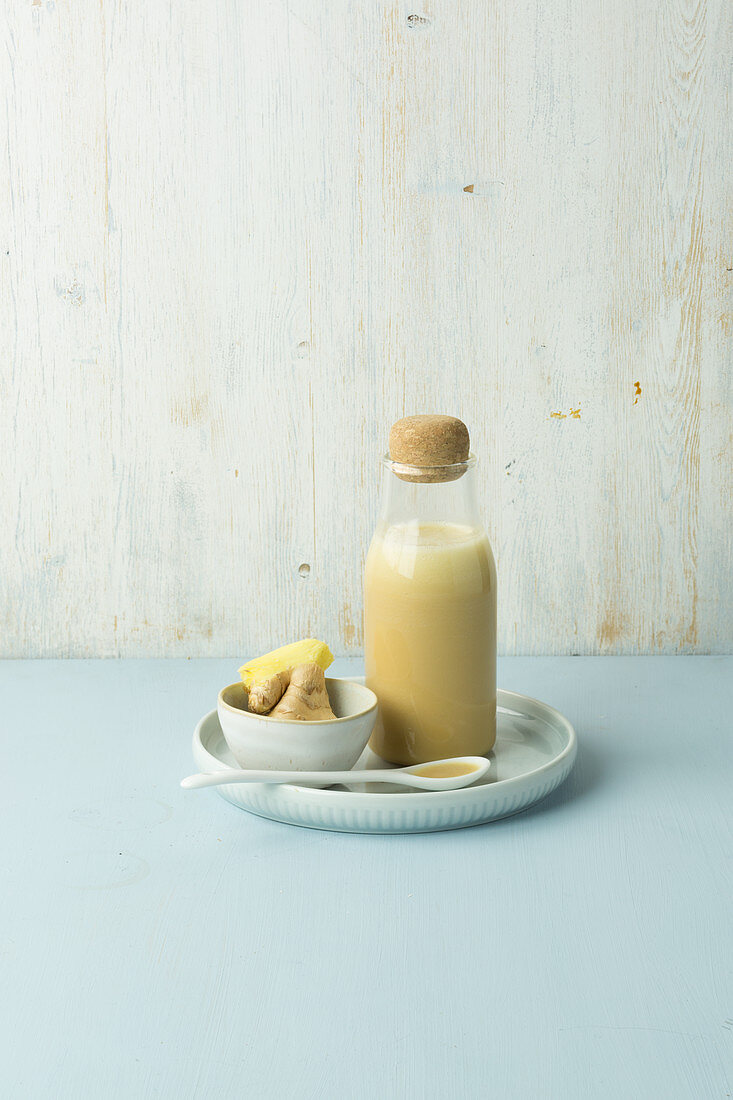 Asian dressing made from ginger, sesame, coconut milk and oyster sauce