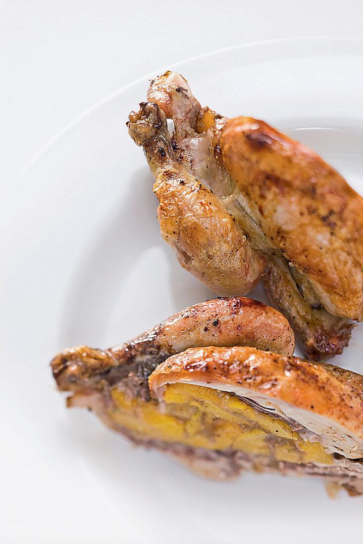 Molecular apricot chicken