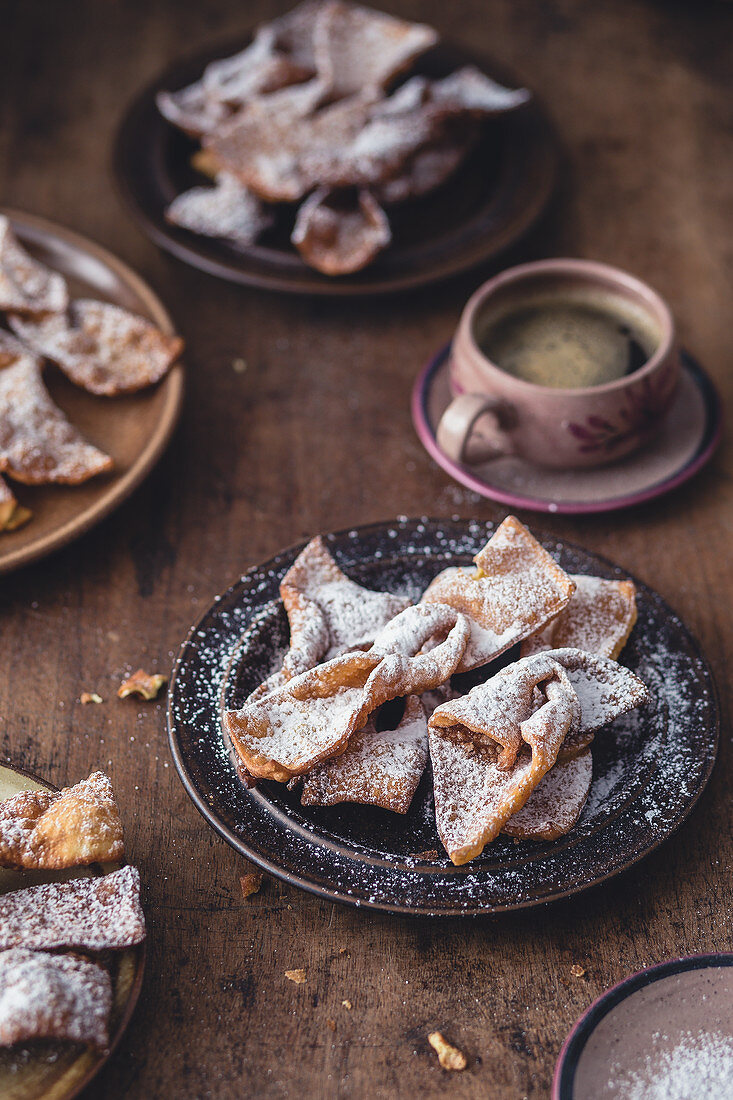 Faworki (deep fried carnival pastry cookies, Poland)