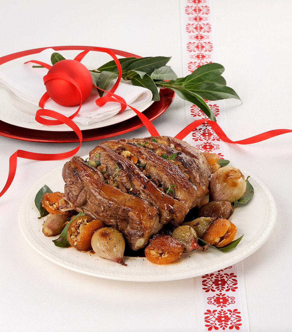Lamb Roast with apricots