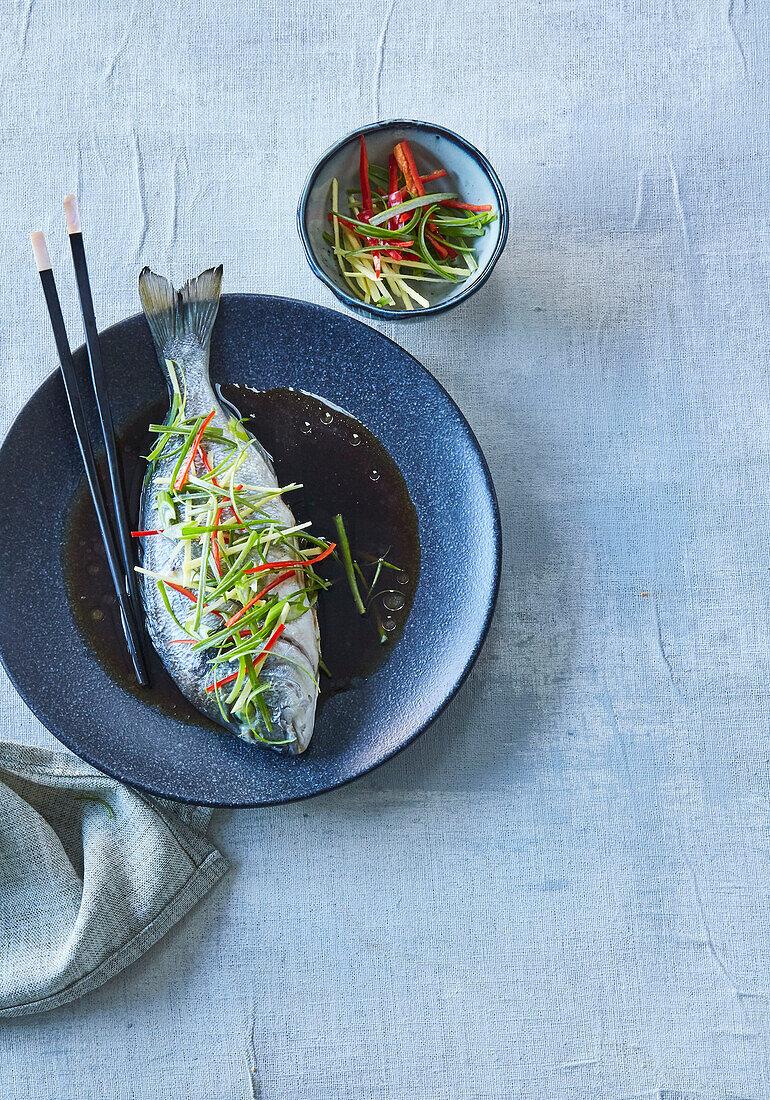 Stewed fish Asian style