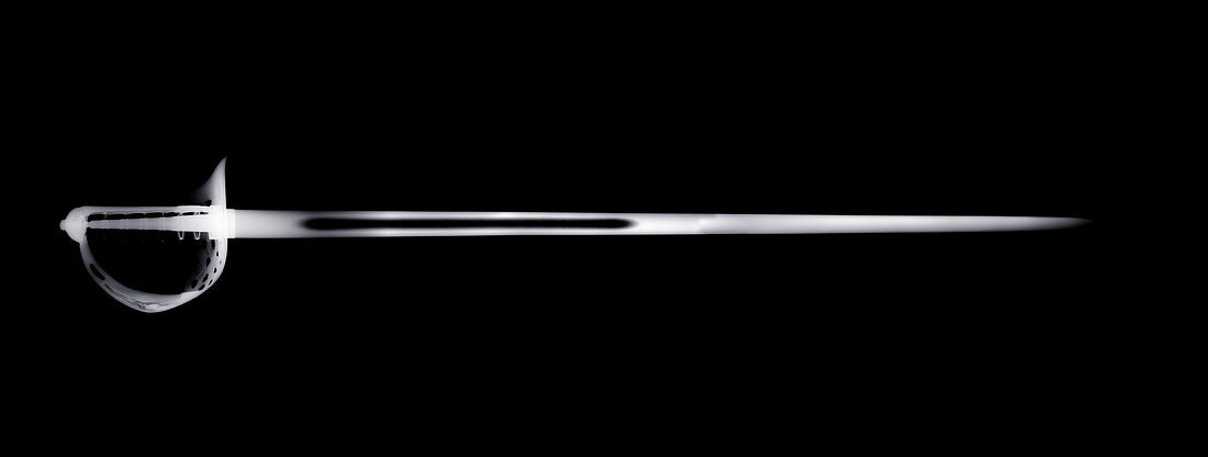 Military sword, X-ray