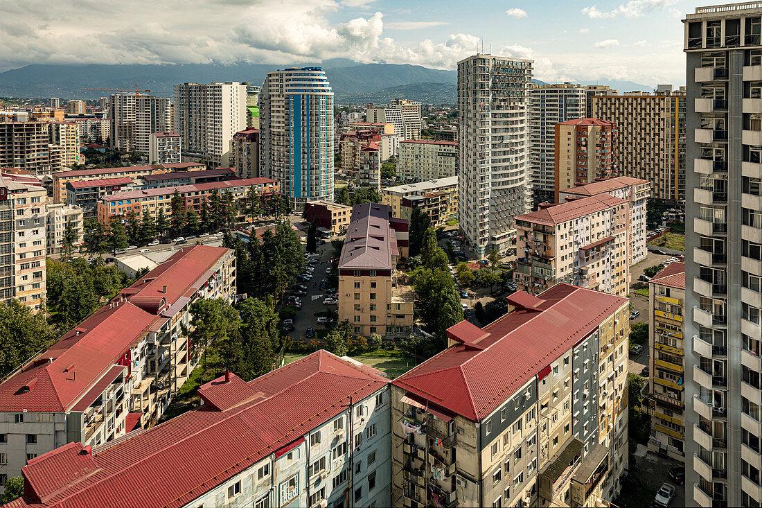 High-rise buildings in Batumi, Georgia