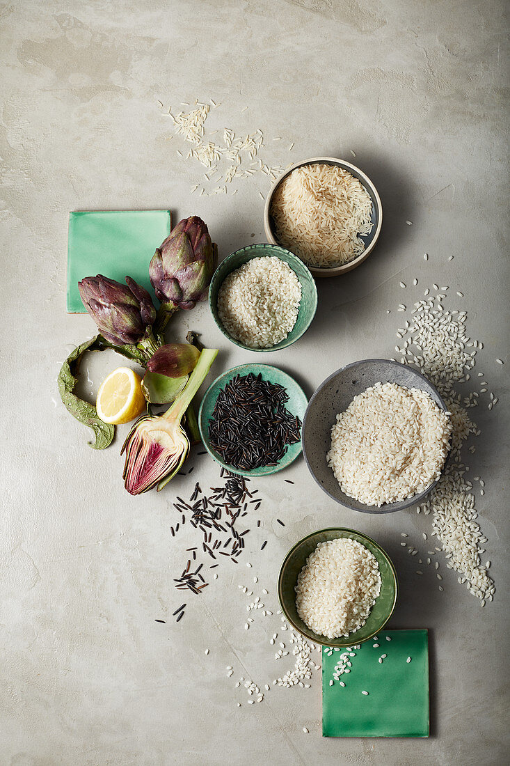 Types of rice from all over the world