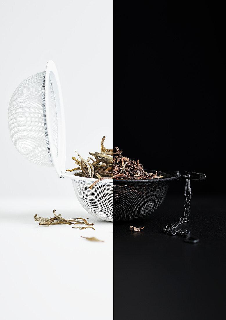 Black and white tea
