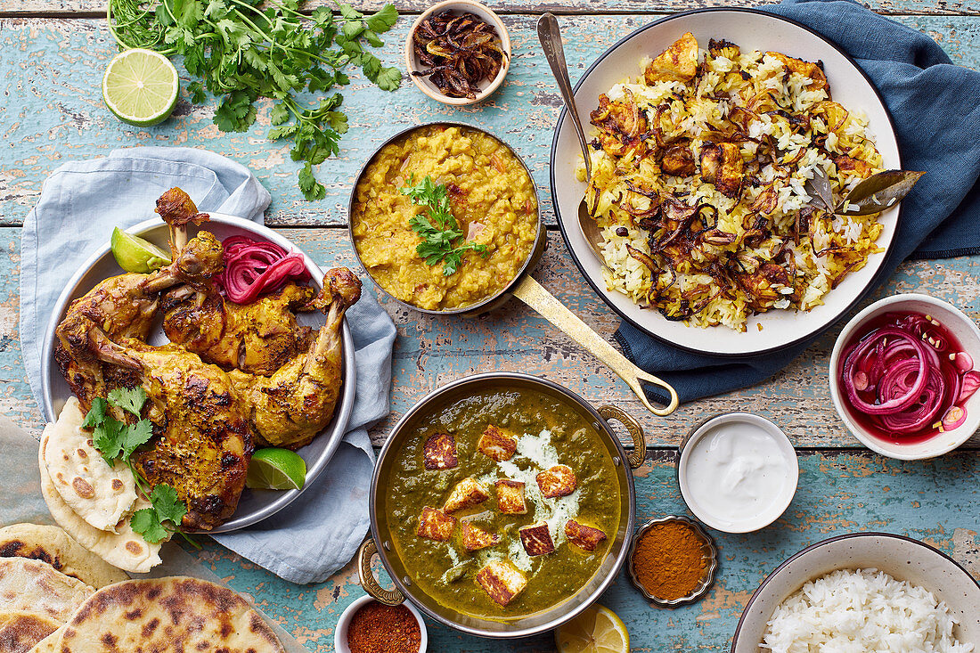 Indian cuisine dinner