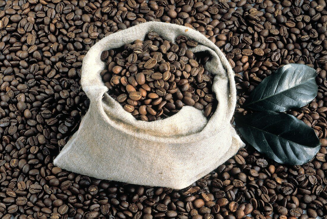 Whole Coffee Beans in a Bag