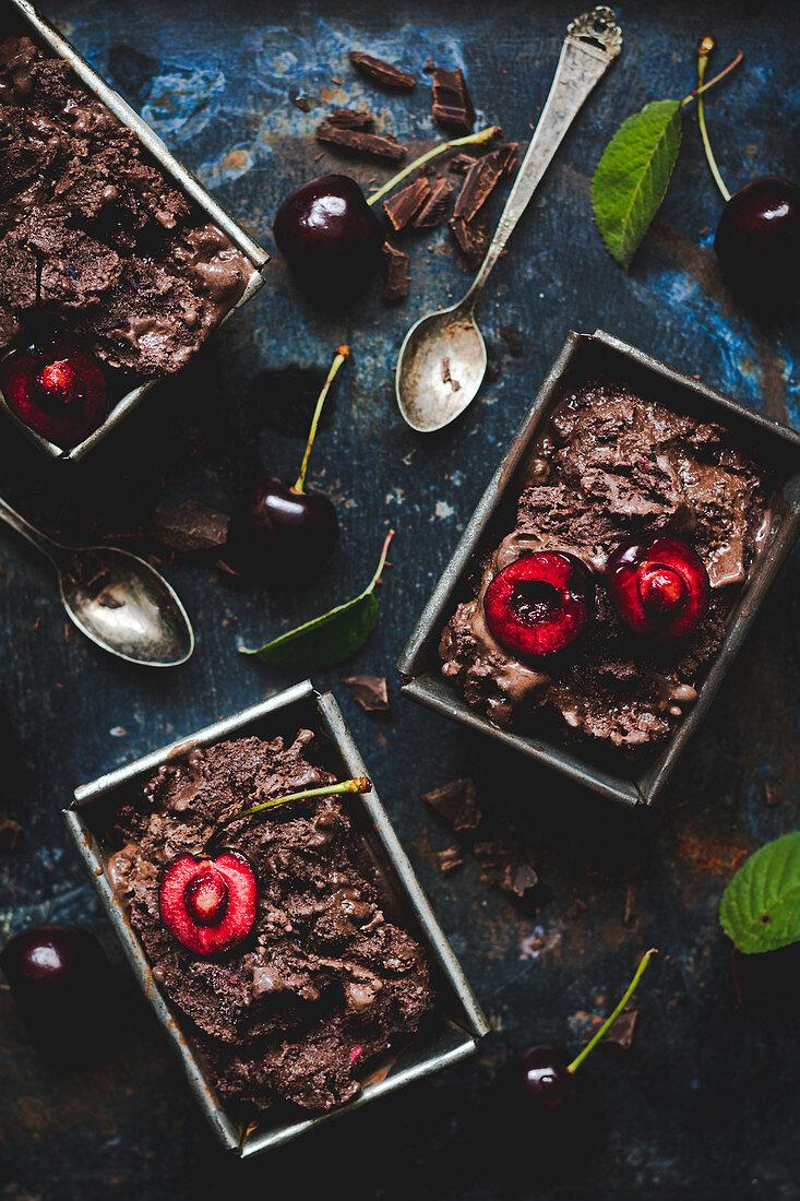 Chocolate cherry ice cream