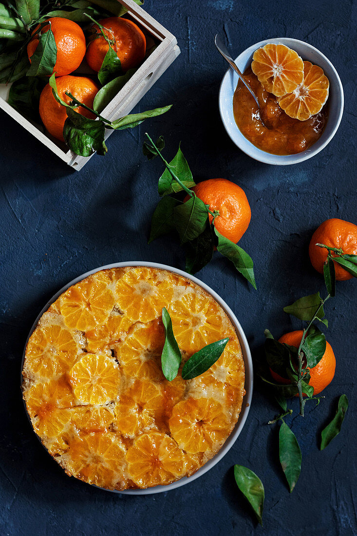 Clementine upside down cake