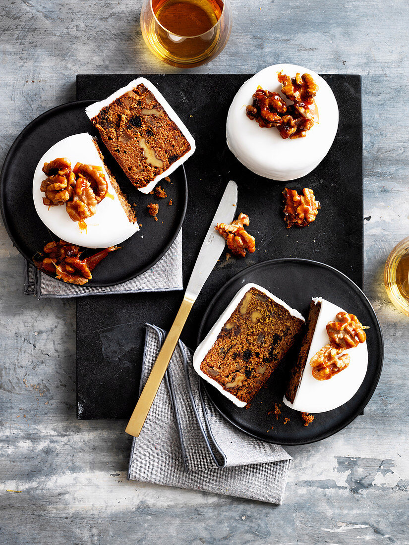Walnut, Orange and Cardamom Christmas Cakes