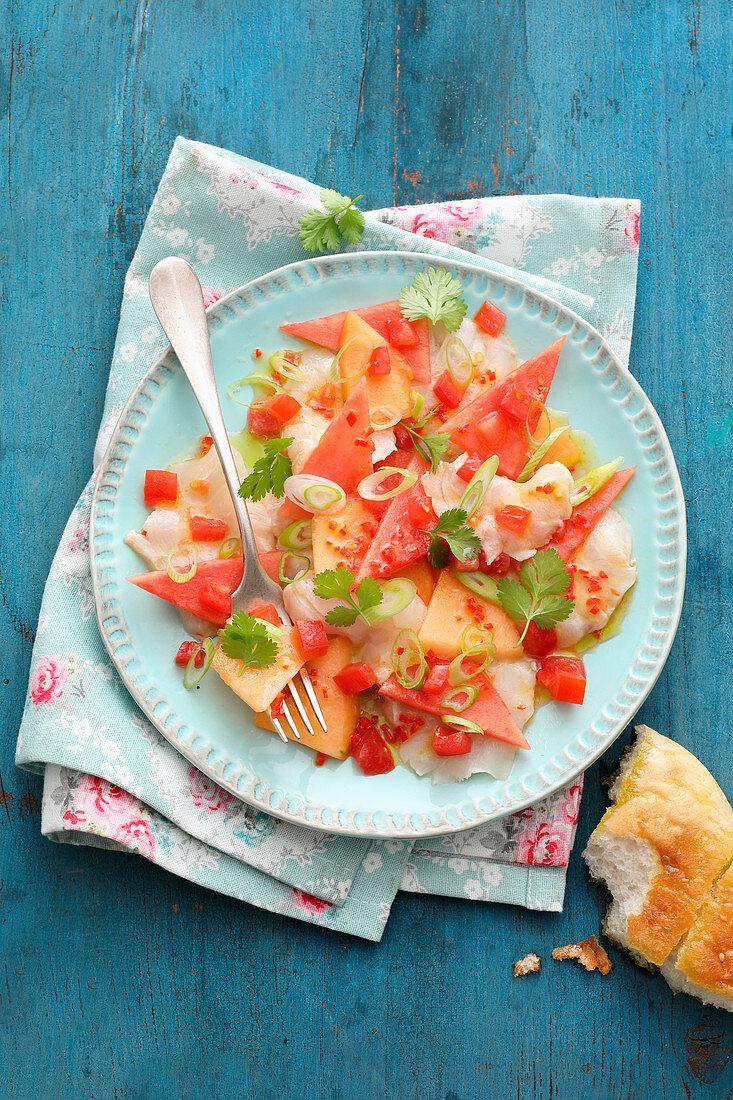 Melon ceviche