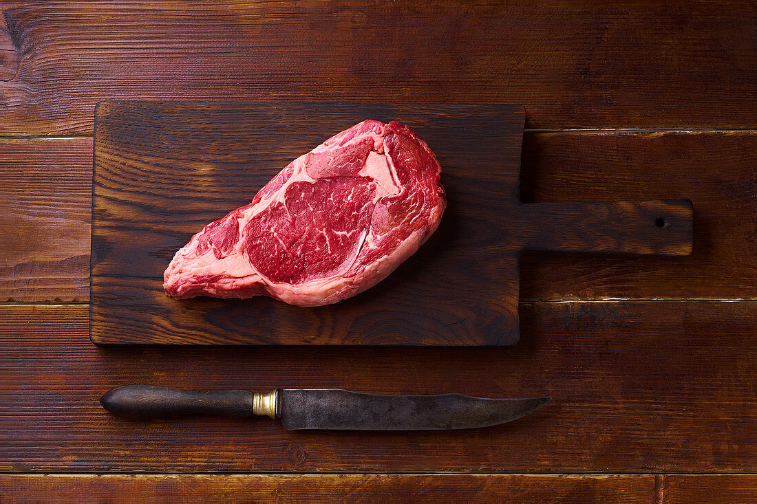 Black Angus prime beef chuck roll steak