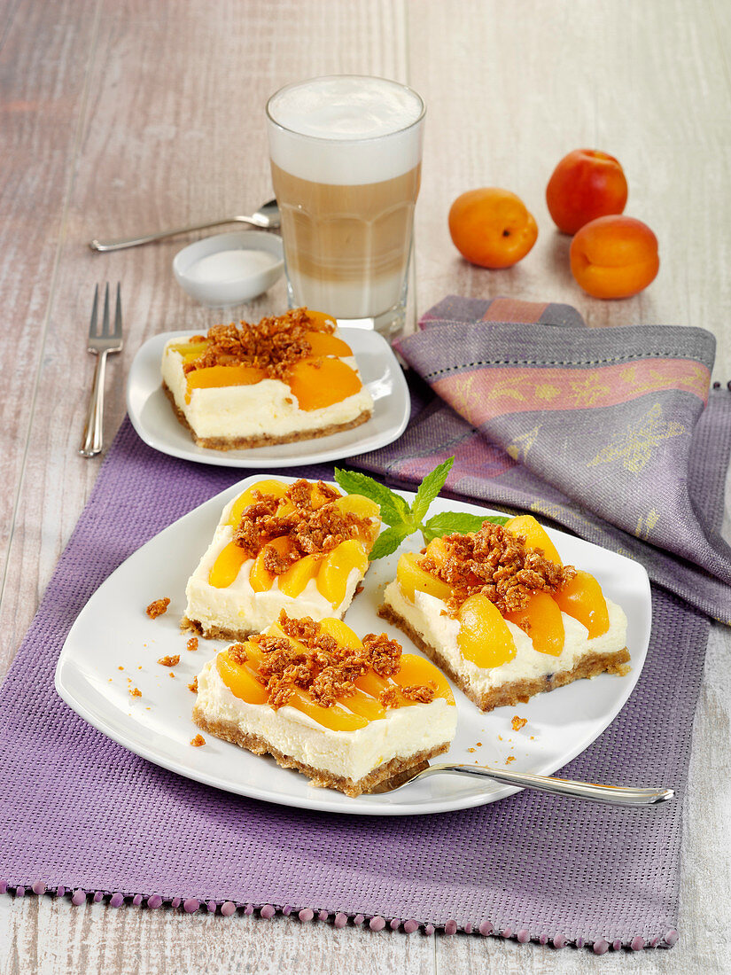 Apricot and coconut cake (raw baking)