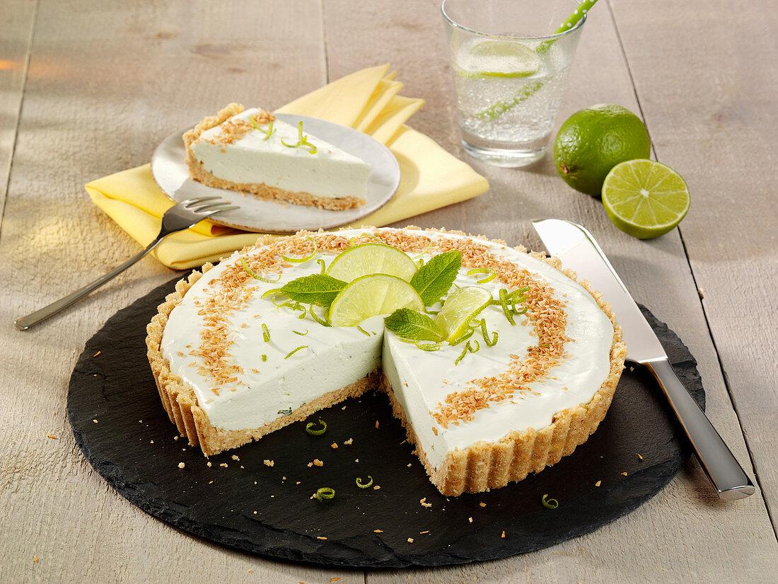 Lime tart (raw baking)