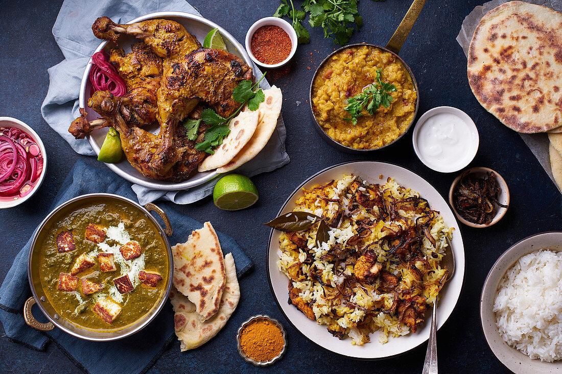 Verschiedene indische Gerichte