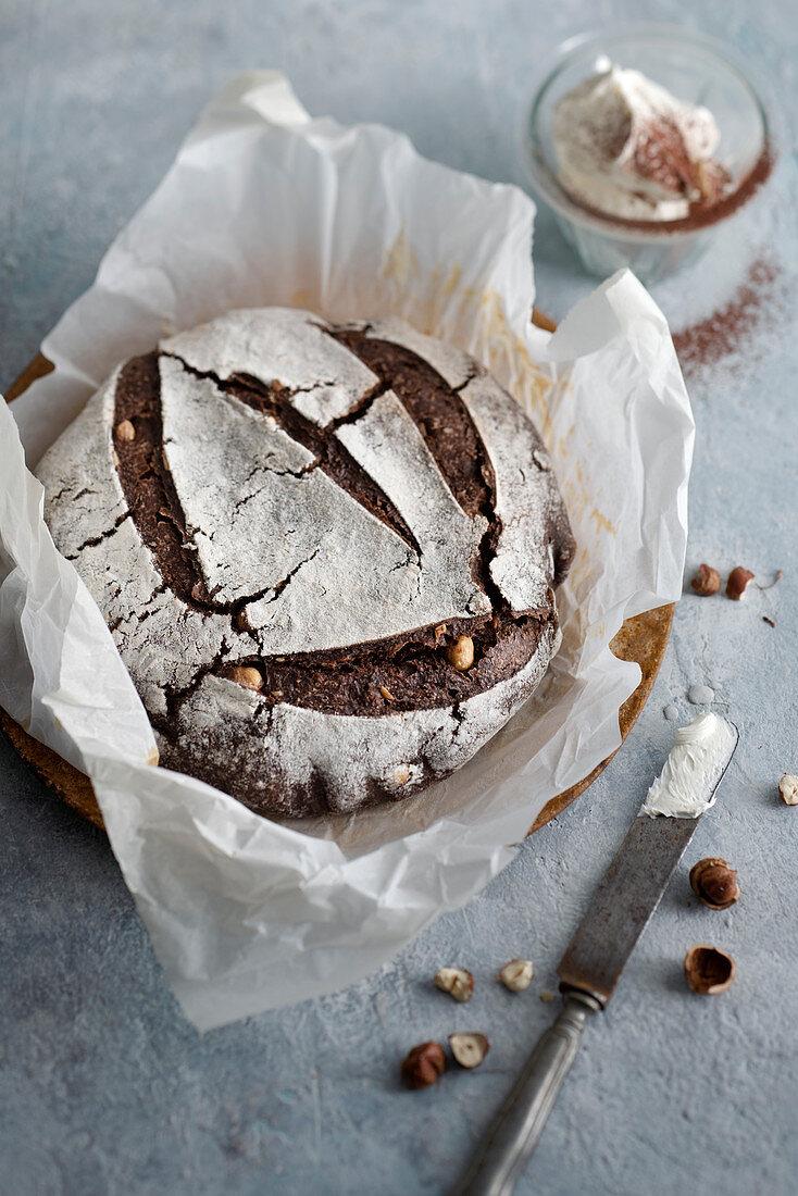 Chocolate hazelnut bread