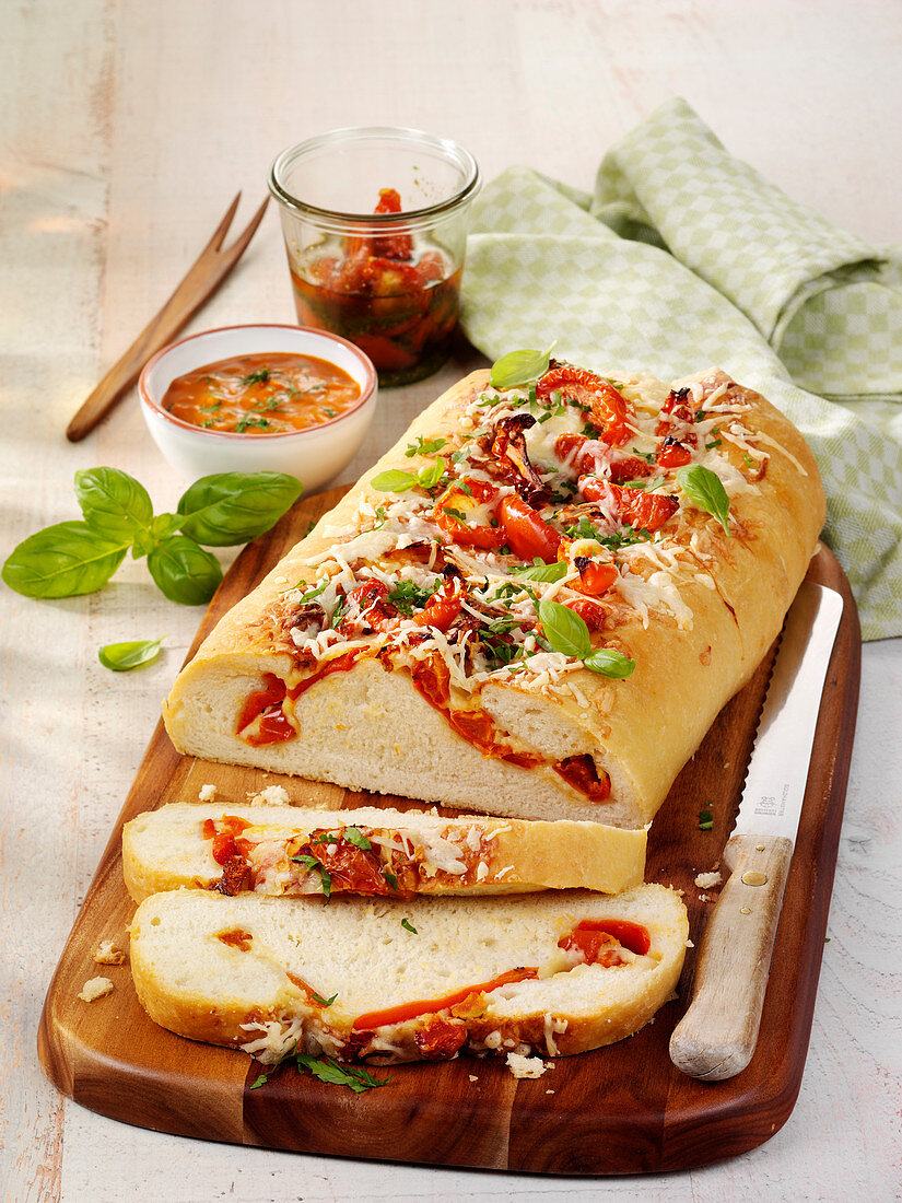 Cheese and tomato bread