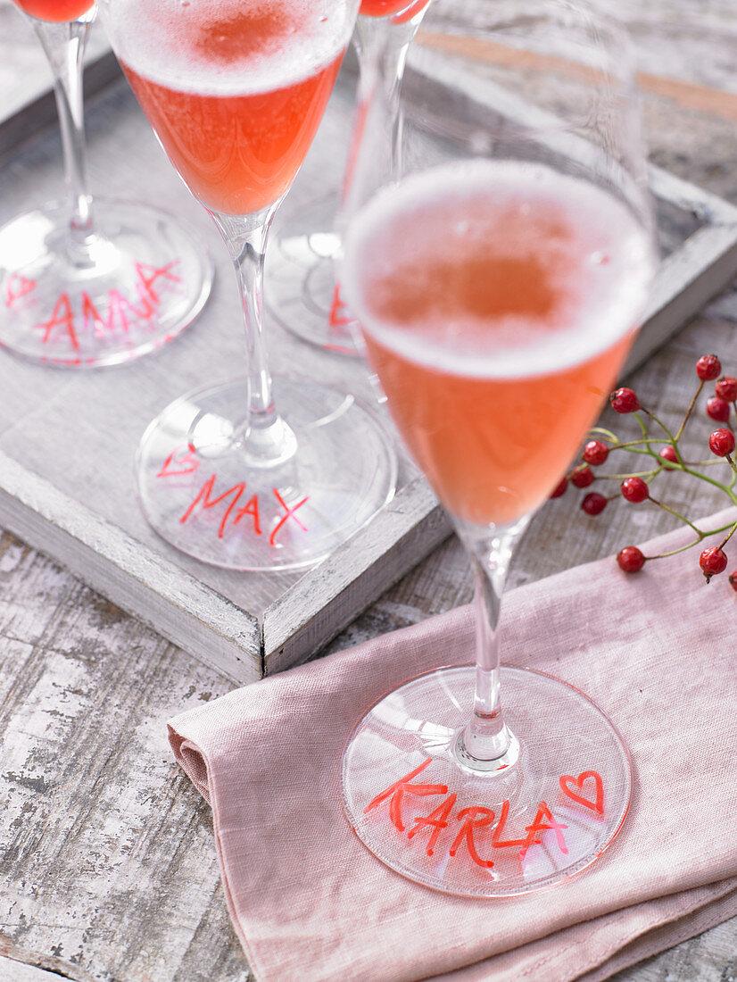 Pink grapefruit spritz