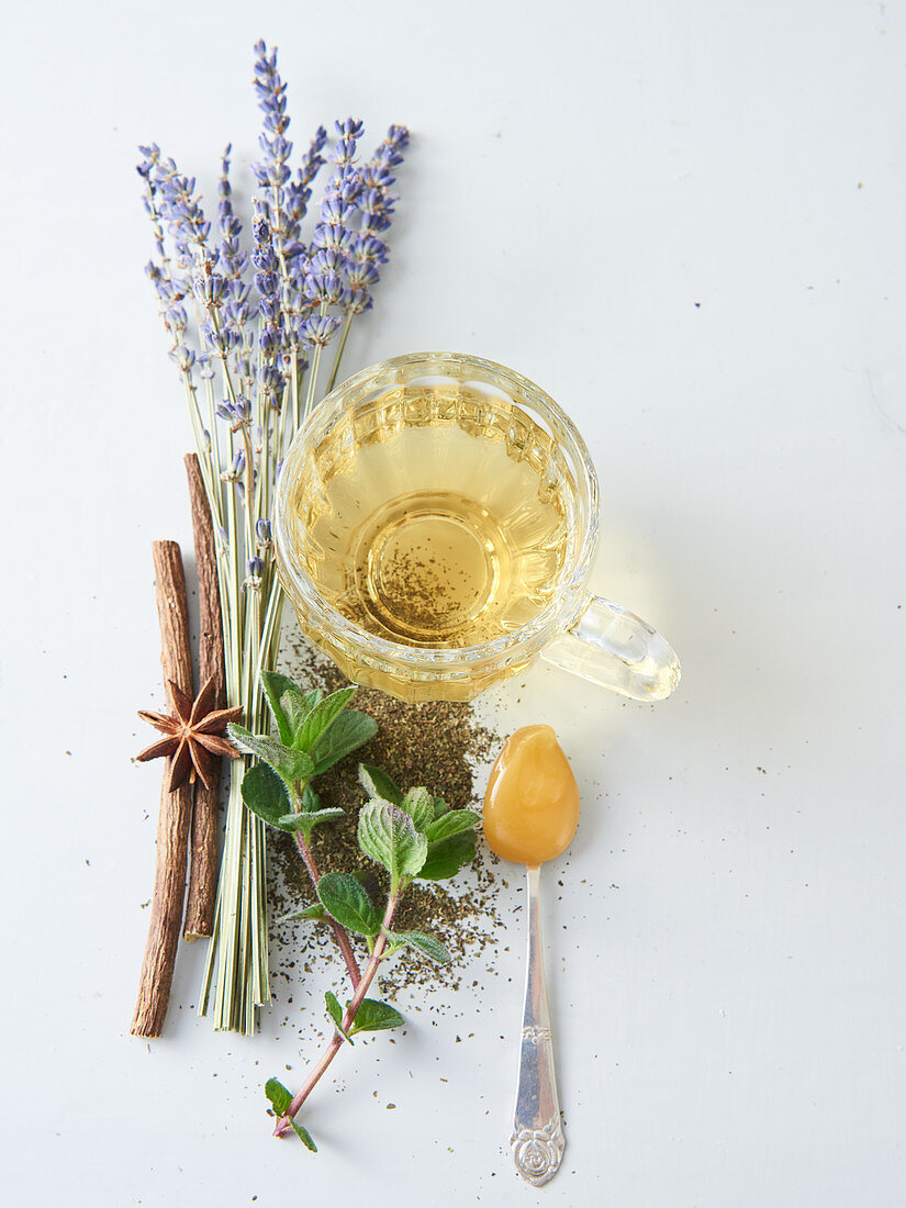 Herbal tea with ingredients