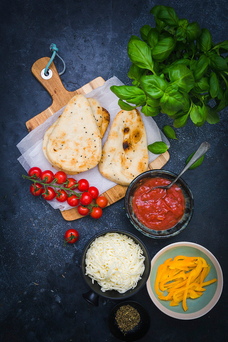 Ingredients for Flatbread Pizza
