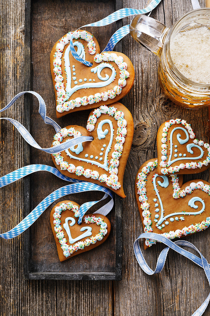 Gingerbread hearts for October Fest