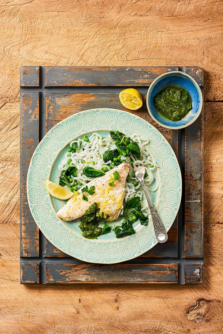 Sea Bream with Spinach