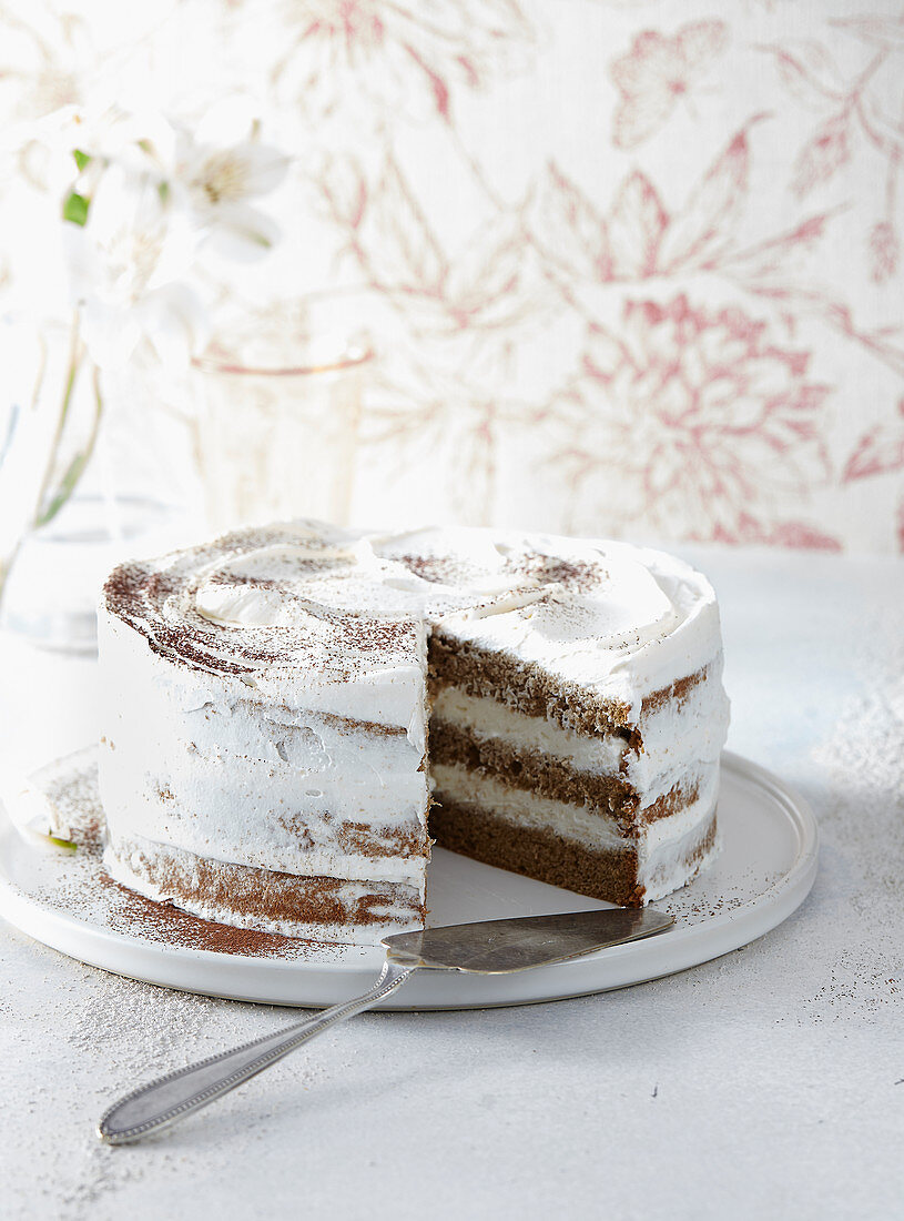Tart with mascarpone cream