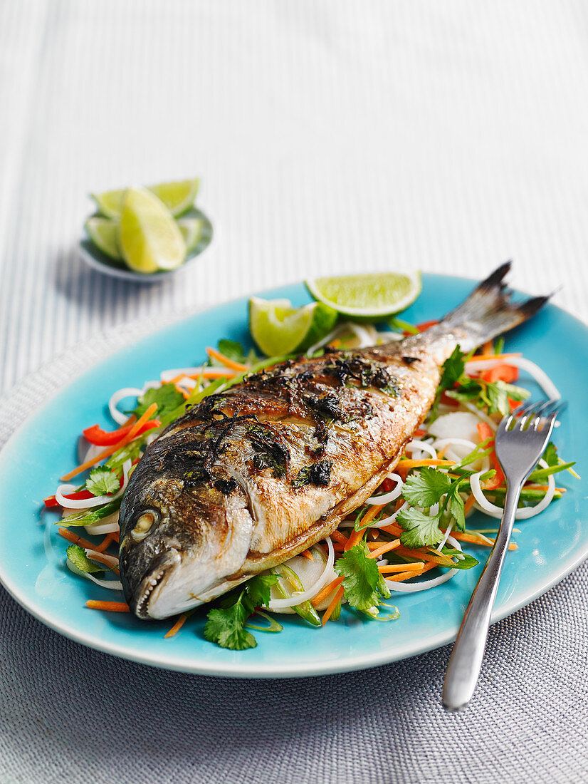 Oriental fish with vegetable