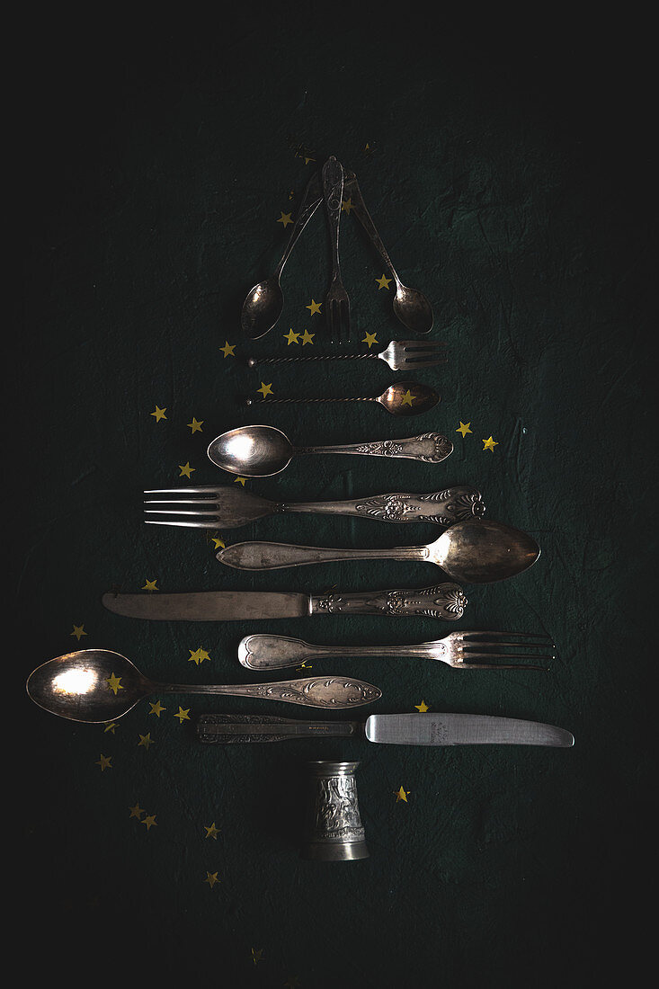 Cutlery Christmas tree