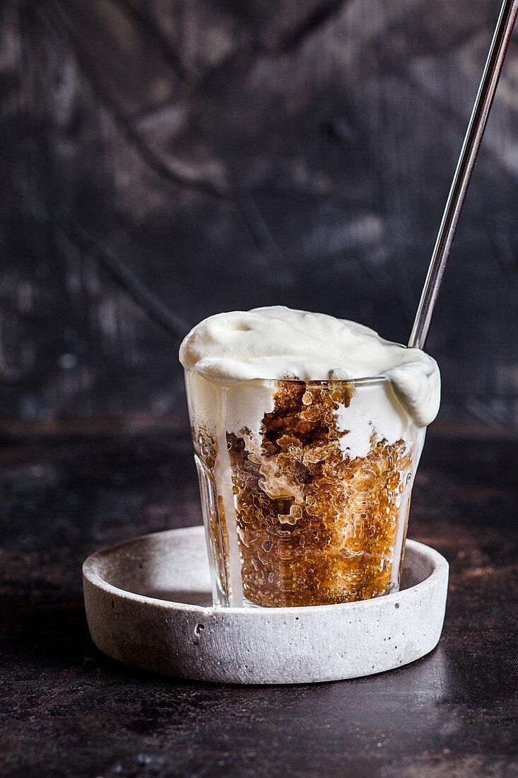 Coffee granita with semi-whipped cream