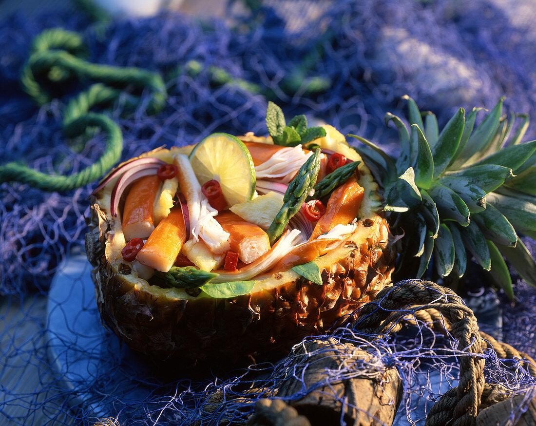 Pineapple surimi salad