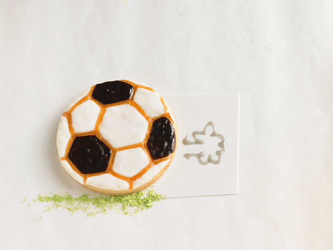 A football biscuit