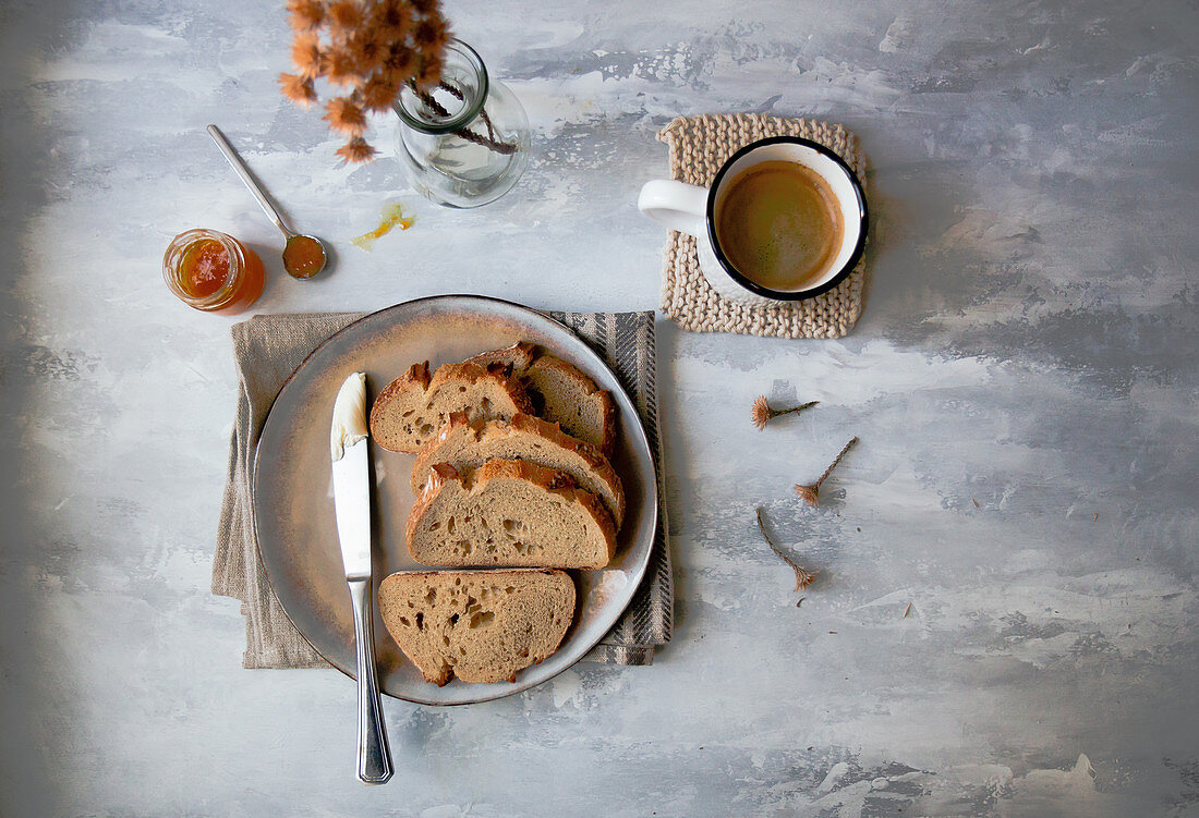Sourdough bread, sliced