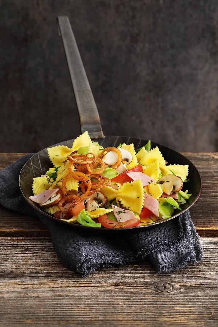 Austrian cabbage pasta with ham
