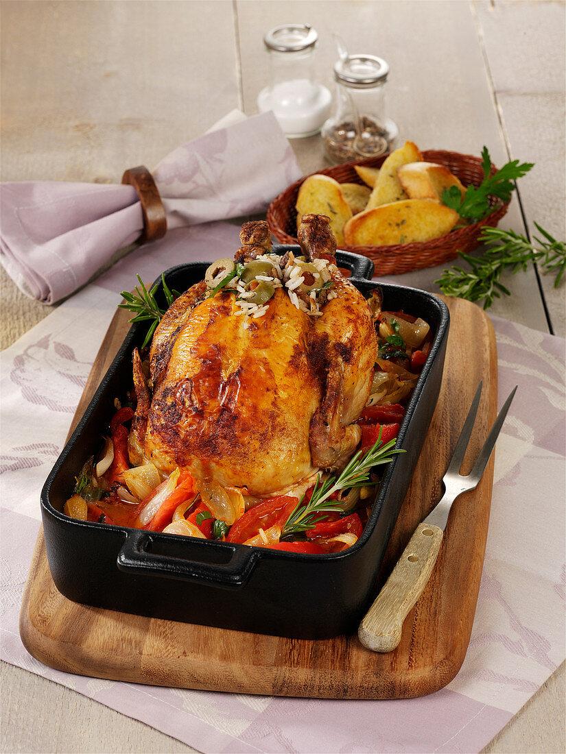Oven-baked Mediterranean chicken