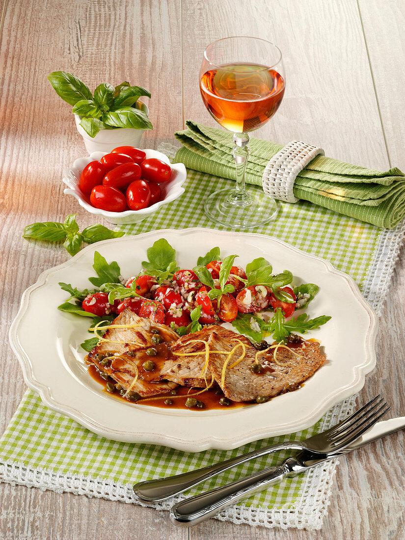 Scaloppino (veal escalope in a caper sauce)
