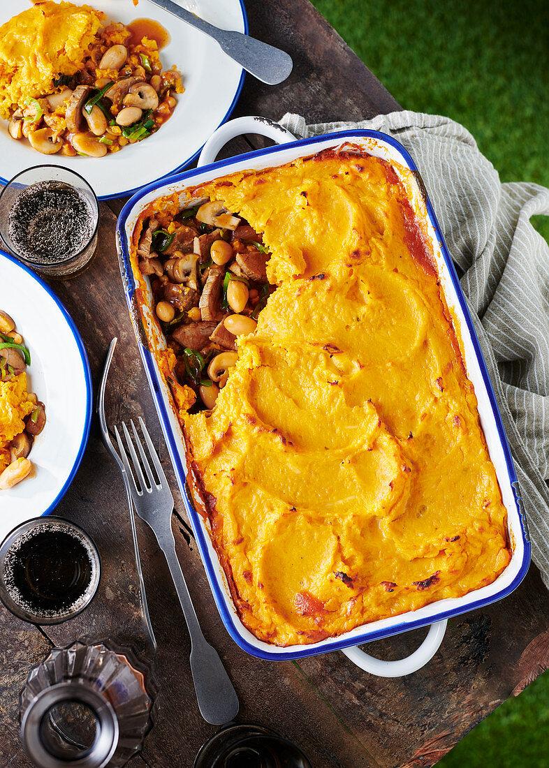 Vegetable and sweet potato bake