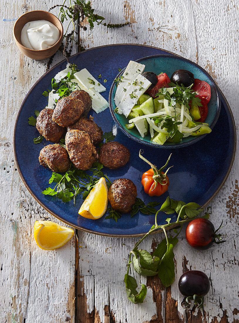 Keftedes - Greek minced meat balls