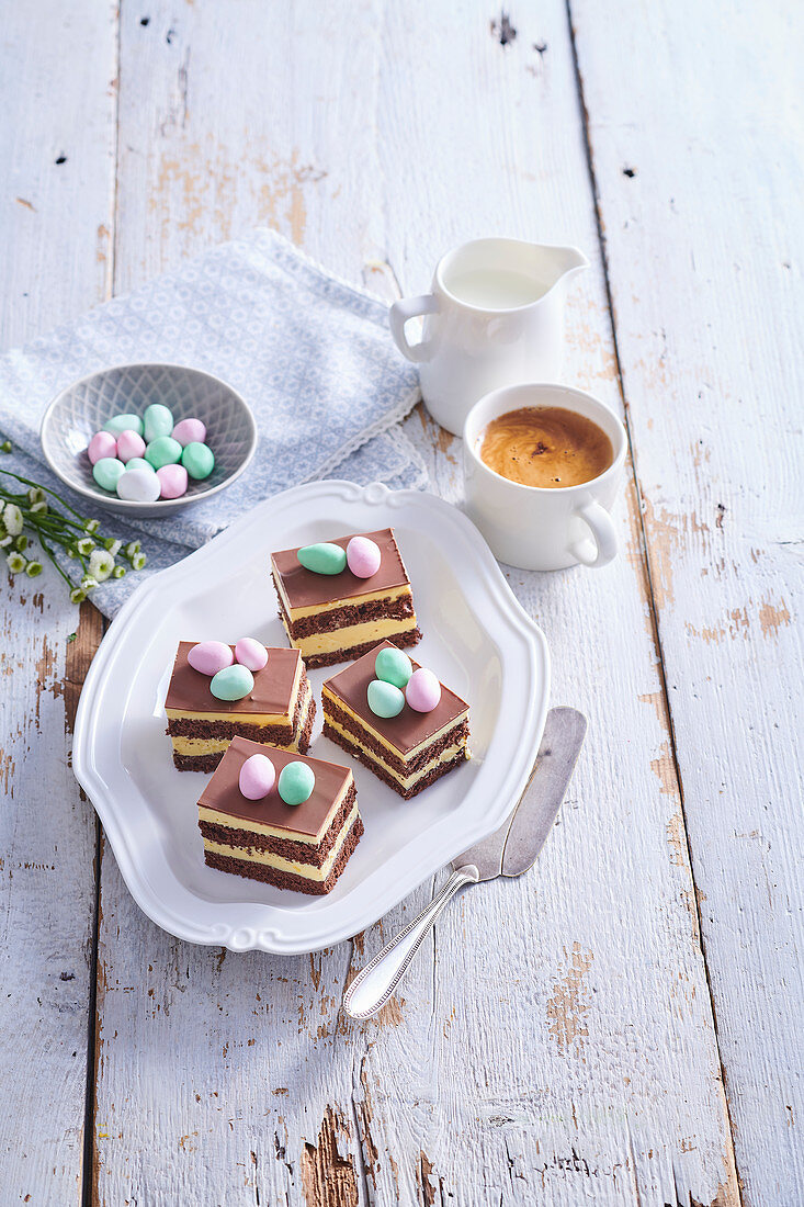 Easter slices with eggnog