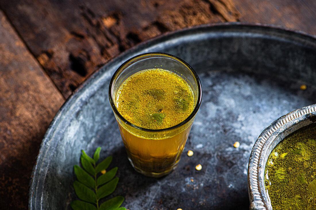 South Indian style lemon and lentil soup