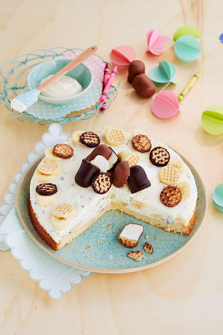 Schokokuss-Bananen-Torte