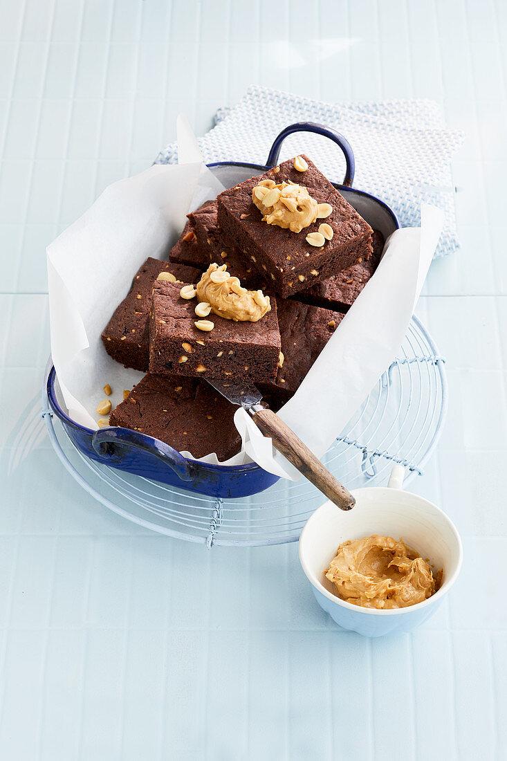 Erdnussbutter-Brownie