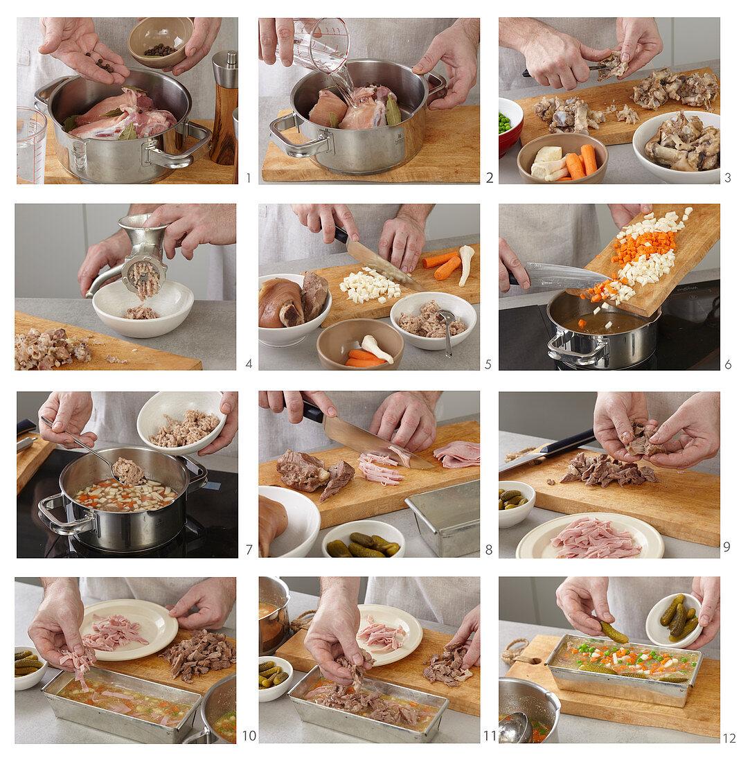 Preparing proper pork aspic